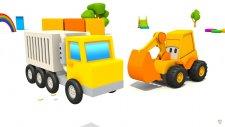 Eğitici çizgi film - Ekskavatör Max. Sürpriz yumurta - konteynır kamyonu!