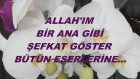 Allah'ım Bir Ana Gibi Şefkat Göster Bütün Eserlerine...