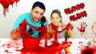 Korkutucu Dev Kanlı Slime Yapımı! | Hallowen Giant Bowl Of Blody Slime!