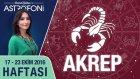 Akrep Burcu Haftalık Yorumu 17 - 23 Ekim 2016 - Demet Baltacı