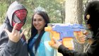 Nerf Savaşı Elsa Kaçırıldı Örümcek Adam Vs Kara Maske - Oyuncak Abi