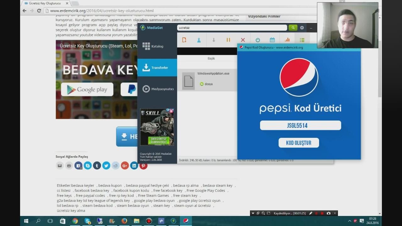 Pepsi Steam Ve Google Play Kod Hilesi Güncel 2016 Kurulum