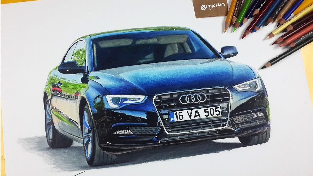 Araba çizimi Audi A5 Mükemmel çizimler Izlesenecom