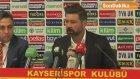 Maçın Ardından - Kayserispor Teknik Direktörü Kutlu