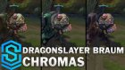 Dragonslayer Braum Chroma Skins - Lol Kostümmleri