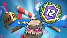 Mücadelede 12. Galibiyet Golem Destesi Clash Royale