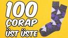 Üst Üste 100 Çorap Giymeyi Denedik - Oha Diyorum