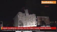 Kepek Çuvallarının Altında 156 Bin Paket Kaçak Sigara Bulundu