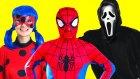 Mucize Uğur Böceği ve Örümcek Adam Korku Filmi Seyrediyor! Scream Joker Spiderman Ladybug