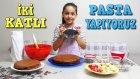 Ailece İki Katlı Kocaman Çikolatalı Pasta Yaptık | Çok Eğlenceli Oldu :)