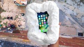 iPhone 7 Sahte Kar İçerisinde Yüksekten Fırlatılırsa