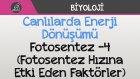 Canlılarda Enerji Dönüşümü - Fotosentez -4 (Fotosentez Hızına Etki Eden Faktörler)