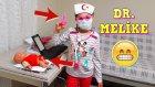 Dr. Melike Ve Hastası Küçük Bebek Düşüp Yaralanmış | Çok Komik Evcilik Oynu