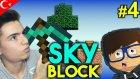 Minecraft SkyBlock - Bölüm 4 - KAKTÜS FARMI ! w/ Mustafa Akyüz