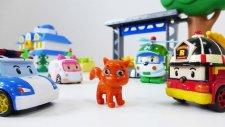 Kedi kurtarma operasyonu - Robocar Poli ve ekibi. Kız ve erkek çocuk oyunları Türkçe izle!