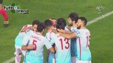 Volkan Şen ile Hasan Ali Kaldırım'ın gol sevincinde çarpıştığı an