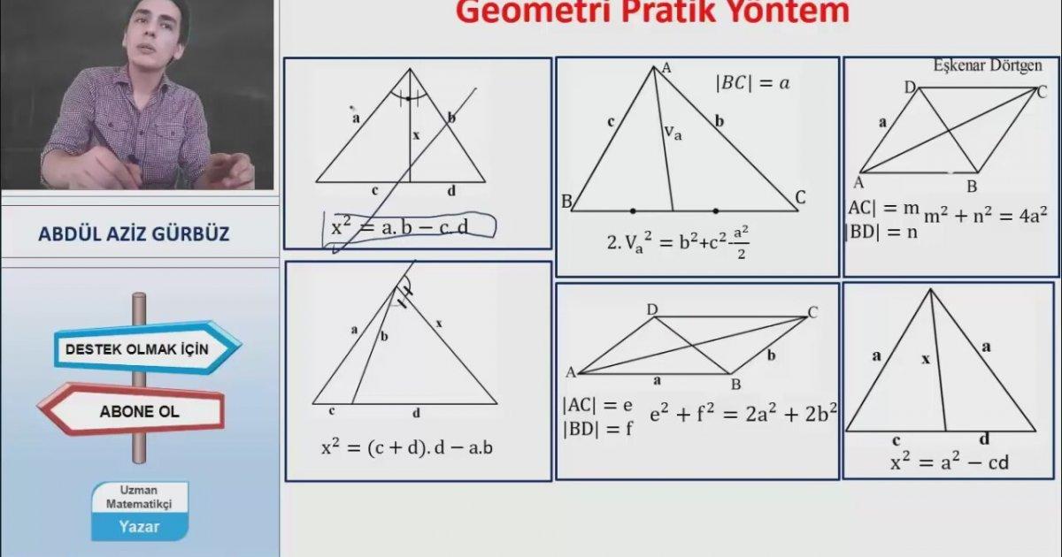 Geometri Formülsüz Soru çözüm Hileleri Ygs Lys Kpss Ales Dgs Teog öabt