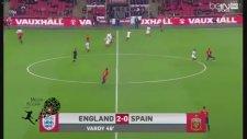 Jamie Vardy'nin İspanya attığı şık gol ve ardından sevinci