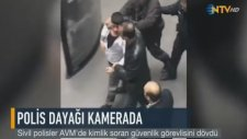Kimlik Soran Güvenlik Görevlisini Döven Sivil Polisler