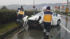 Çaykur Rizesporlu Kweuke Trafik Kazası Geçirdi!