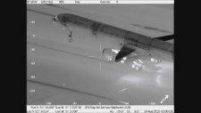 İniş Yapan Uçağın Termal Kamera Görüntüsü (B757)
