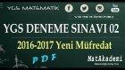 2017 YGS Matematik Denemesi 02 - 2.Bölüm (Canlı Yayın)