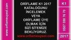 Oriflame K1 Ocak 2017 Kataloğu