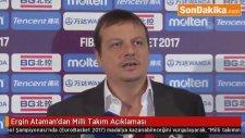 Ergin Ataman'dan Milli Takım Açıklaması
