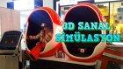 3D Sanal Gerçeklik Gözluğü Ve Koltuğuna Bindik Cehennem Treni