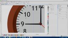 Corel Draw Dersleri Gerçekçi Duvar Saati Modelleme