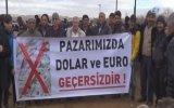 Aksaray'da Besicilerin Toplanıp Dolar Yakması