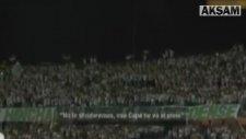 Atletico Nacional taraftarından Chapecoense'ye veda