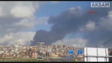 Fabrika deposunda büyük yangın
