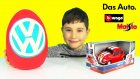 Volkswagen Oyun Hamuru DEV Sürpriz Yumurta Açma Oyuncak Arabalar