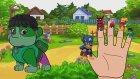 Paw Patrol Marvel Super Heroes Spiderman Hulk | Finger Family Songs Nursery Rhymes