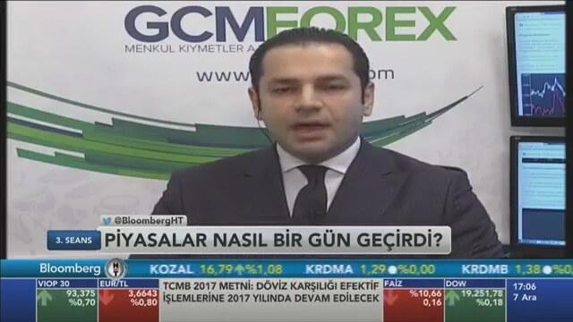 07.12.2016 - Bloomberg HT - 3. Seans - GCM Menkul Kıymetler Araştırma Müdürü Dr. Tuğberk Çitilci