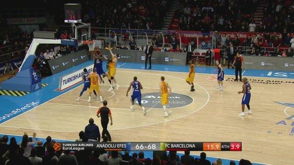 Anadolu Efes 72-68 Barcelona (Maç Özeti - 9 Aralık 2016)