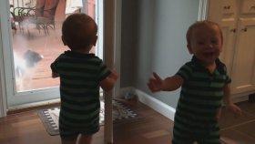 İlk Kez Cam Gören ikiz Bebeklerin Şaşkınlığı