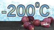 Sıvı Nitrojeni Meyvelerin Üzerine Döktük - Taşa Dönüştürüyor