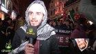 Istiklal'de Rus Konsoloslugu Önunde Halep Protestosu