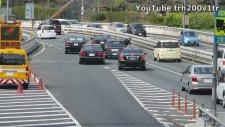 Japon Başbakan Trafikte ilerlerken