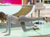 Magazin Programında Cansu Taşkın'a Pilates Yaptırmak