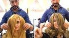 Nutella ile Saç Boyayan Bir Değişik Kadın Kuaförü
