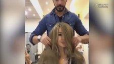 Nutella İle Saç Boyayan Kadın Kuaförü
