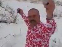 Kar Üstünde Şalvarlı Zilli Dans