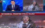 Kar Yağışı Haberini Sunan Fulya Öztürk'ün Zor Anları