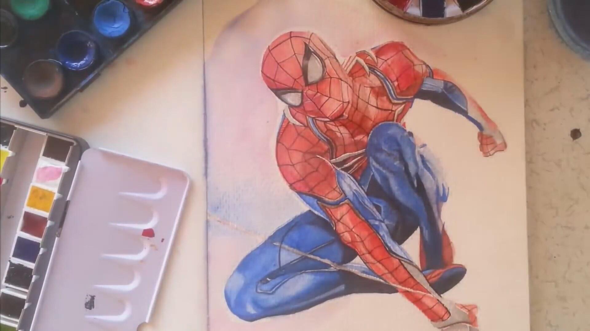 Inanılmaz örümcek Adam çizimi Incredible Spiderman Drawing