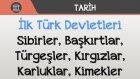 İlk Türk Devletleri - Sibirler, Başkırtlar, Türgeşler, Kırgızlar, Karluklar, Kimekler