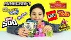 Sürpriz Oyuncak Paketleri Açma 7 Minecraft Çöps Çetesi LEGO Marvel 500 Trolls
