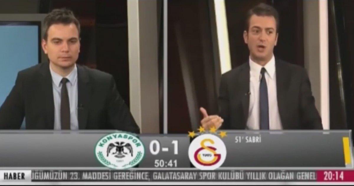 Sabri Sarıoğlu'nun golünde GS TV stüdyosu